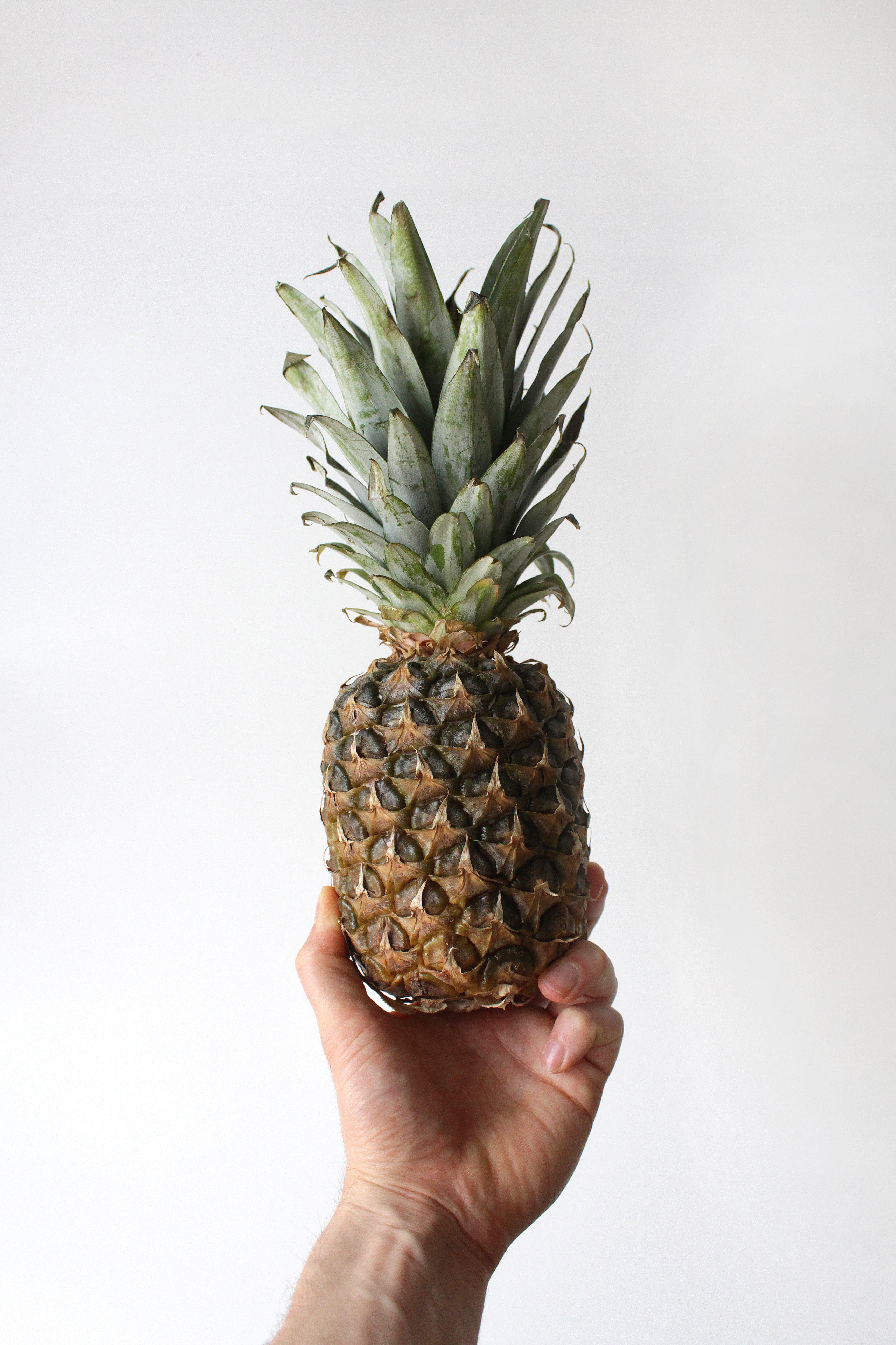 Hand holding a delicious pineapple.